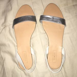 Forever 21 Silver Strapped Sandals